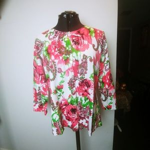 Sweaters - Floral button up cardigan